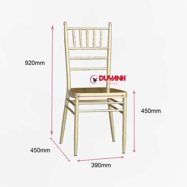 kích thước ghế tiffany chiavari