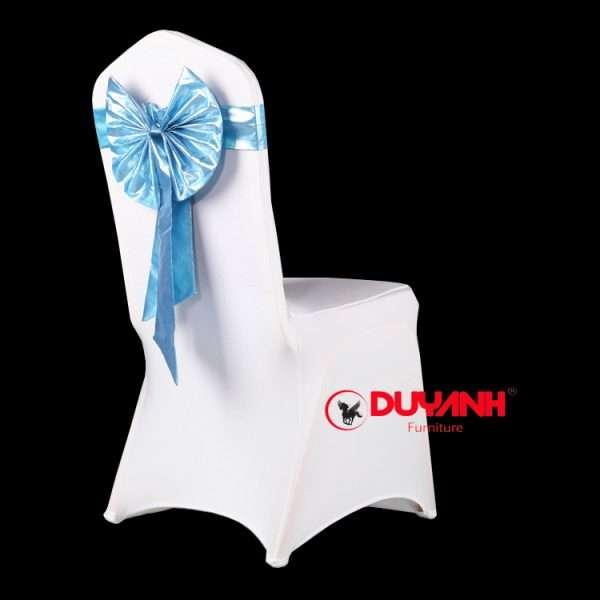 áo nơ ghế banquet vải chéo