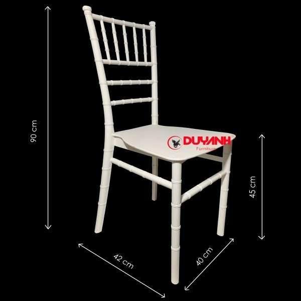 Kích thước ghế tiffany nhựa đúc