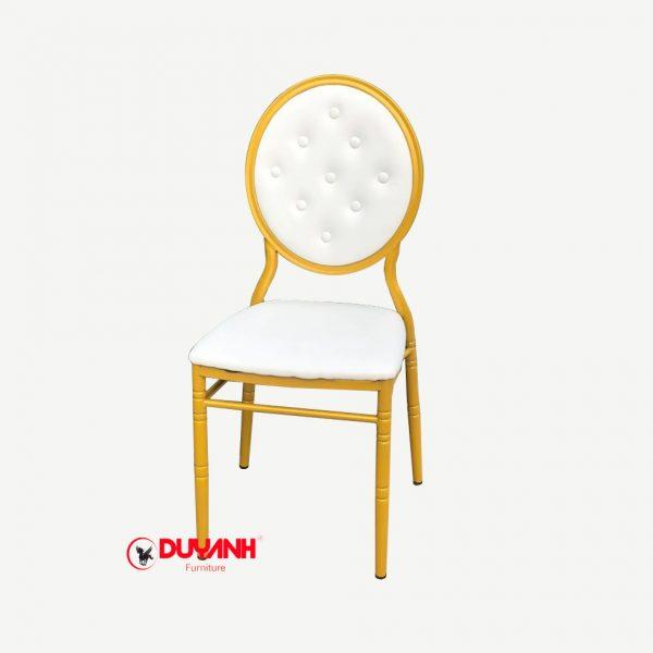 Ghế Louis lưng tròn màu vàng đồng