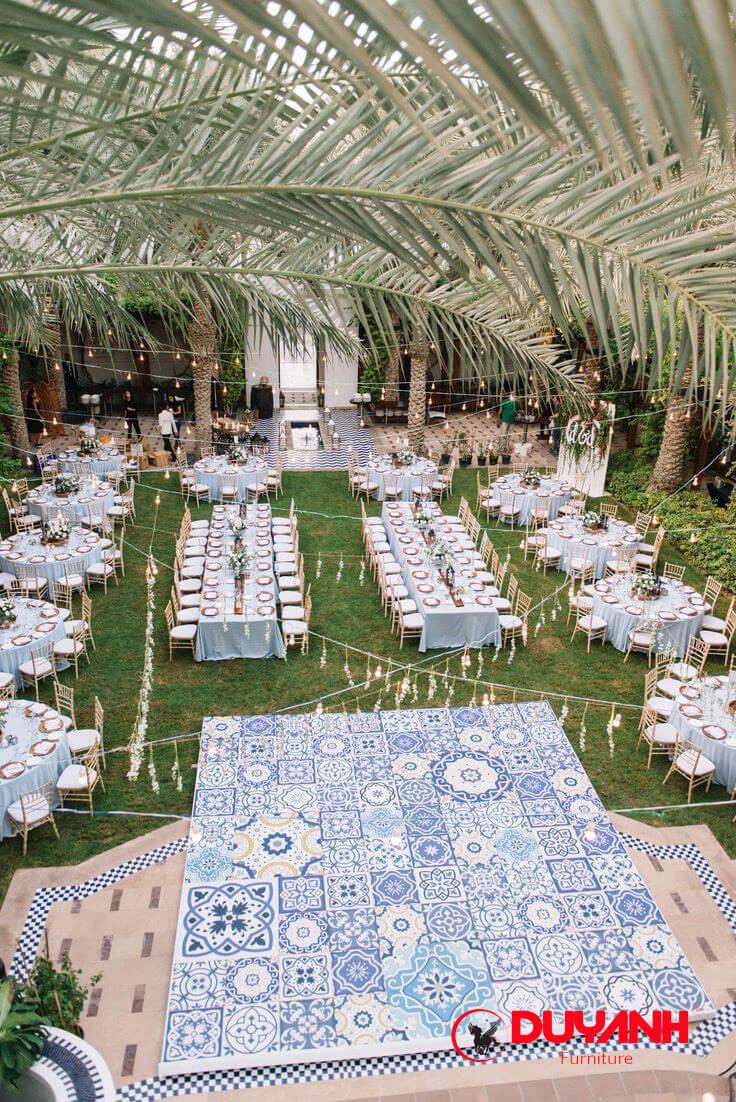 Ghế nhà hàng tiệc cưới ngoài trời đẹp