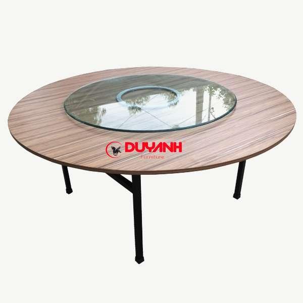 bàn tròn gỗ mdf 1m6