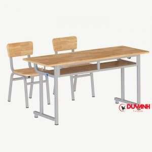 Bàn ghế học sinh gỗ cao su tự nhiên