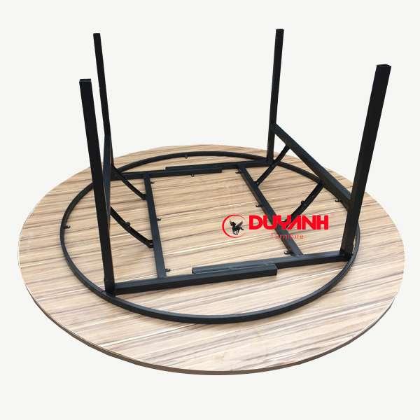 bàn tròn gỗ mdf 1m5