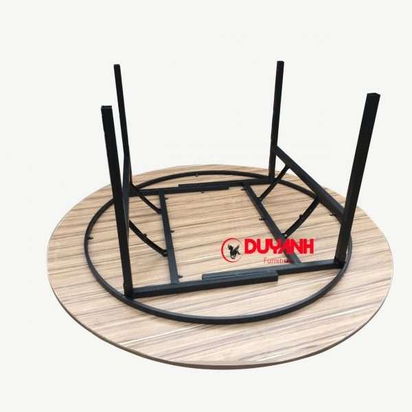 bàn tròn gỗ mdf 1m8